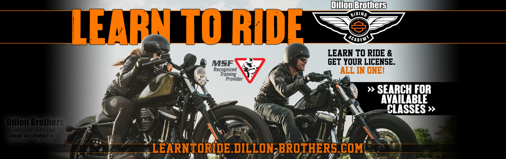 Learn to ride a motorcycle at Dillon Brothers
